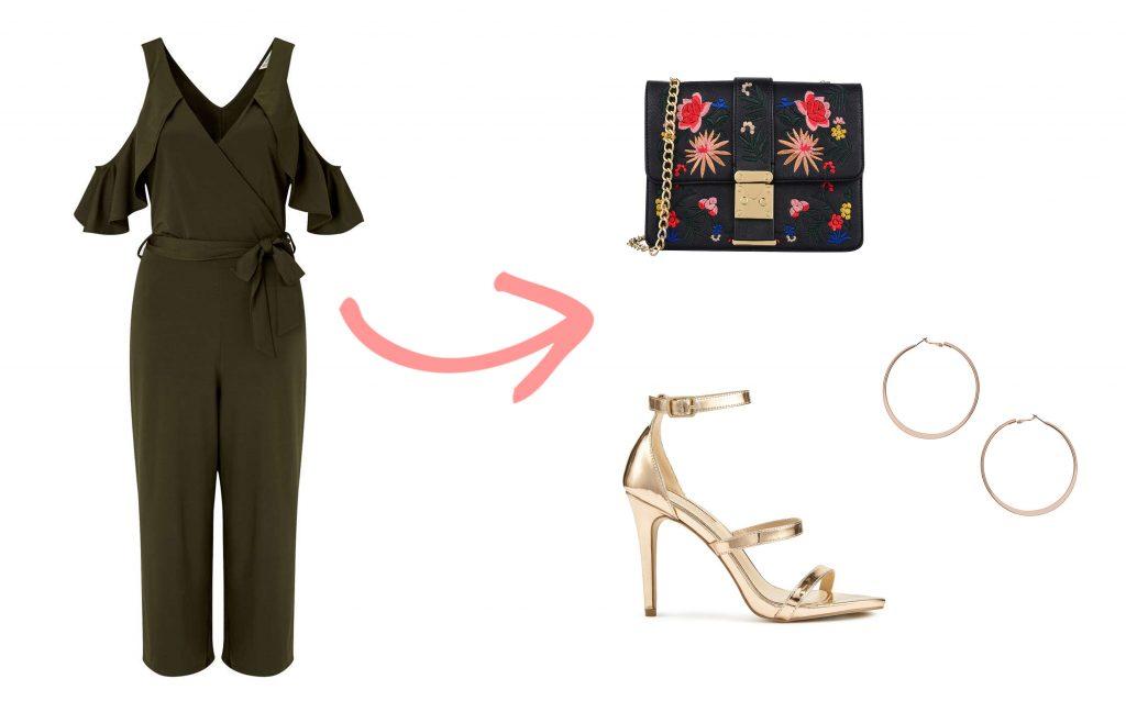 green-olive-jumpsuit-tan-shoe-sandalh-gold-hoops-black-bag-offshoulder-howtowear-spring-summer-dinner.jpg
