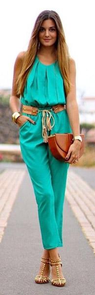 green-emerald-jumpsuit-belt-cognac-bag-clutch-howtowear-spring-summer-hairr-dinner.jpg