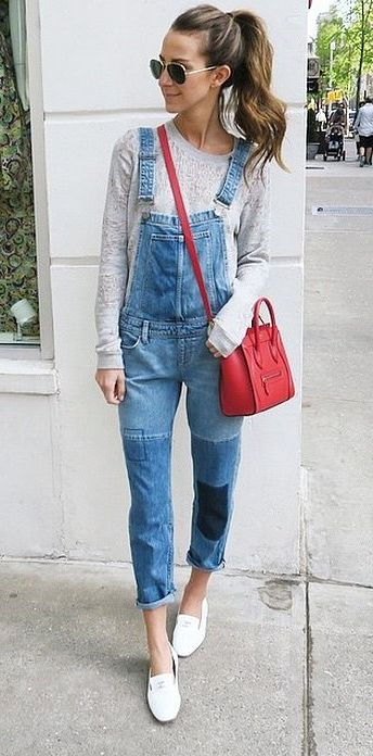 blue-light-jumpsuit-grayl-sweater-pony-sun-red-bag-crossbody-white-shoe-flats-hairr-howtowear-fashion-style-outfit-spring-summer-weekend.jpg