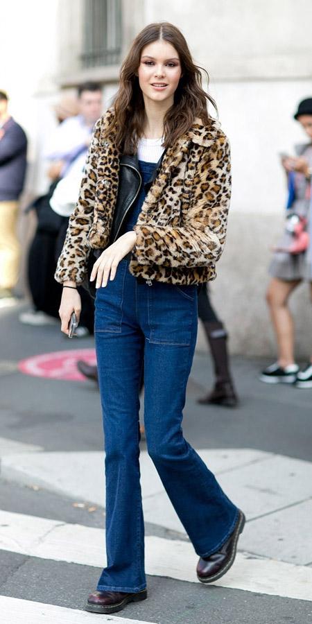 blue-navy-jumpsuit-white-tee-black-jacket-moto-tan-jacket-burgundy-shoe-booties-brun-fall-winter-wear-fashion-style-leopard-denim-overalls-milan-italy-lunch.jpg