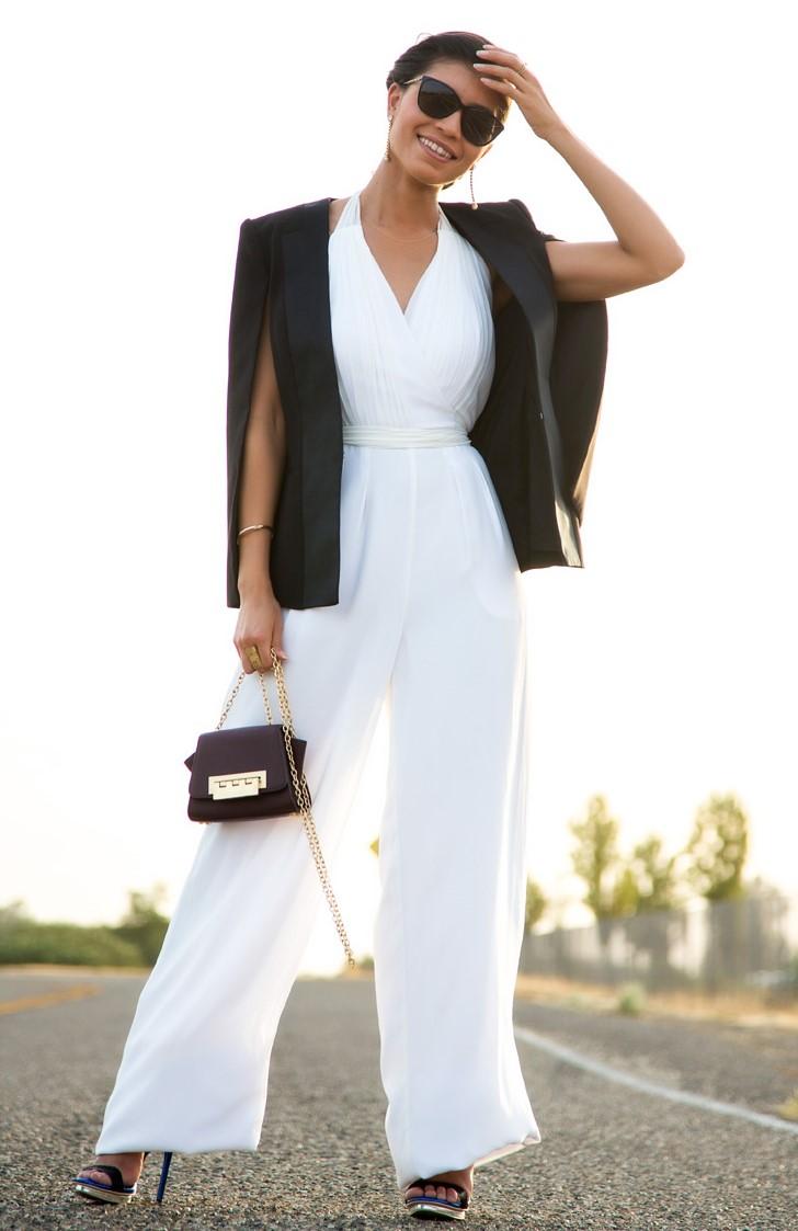 white-jumpsuit-black-jacket-blazer-earrings-sun-brun-bun-black-bag-black-shoe-sandalh-spring-summer-dinner.jpg
