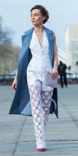 white-jumpsuit-lace-sheer-hairr-bun-pink-shoe-pumps-blue-med-vest-utility-trench-spring-summer-dinner.jpg