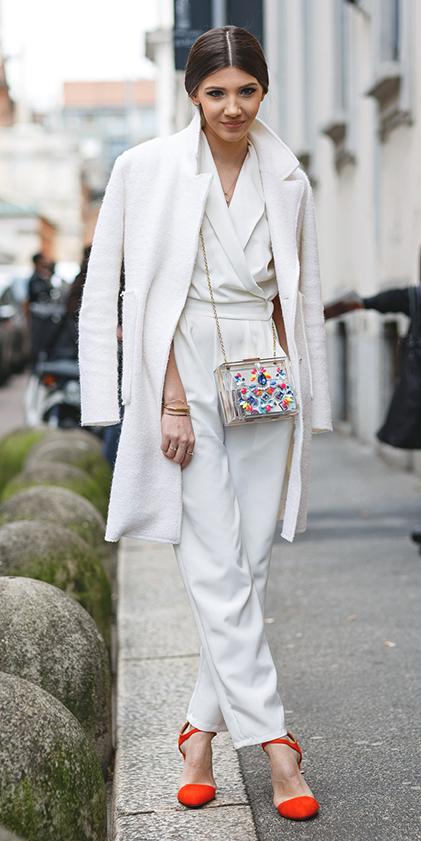white-jumpsuit-white-jacket-coat-pony-orange-shoe-pumps-spring-summer-hairr-dinner.jpg