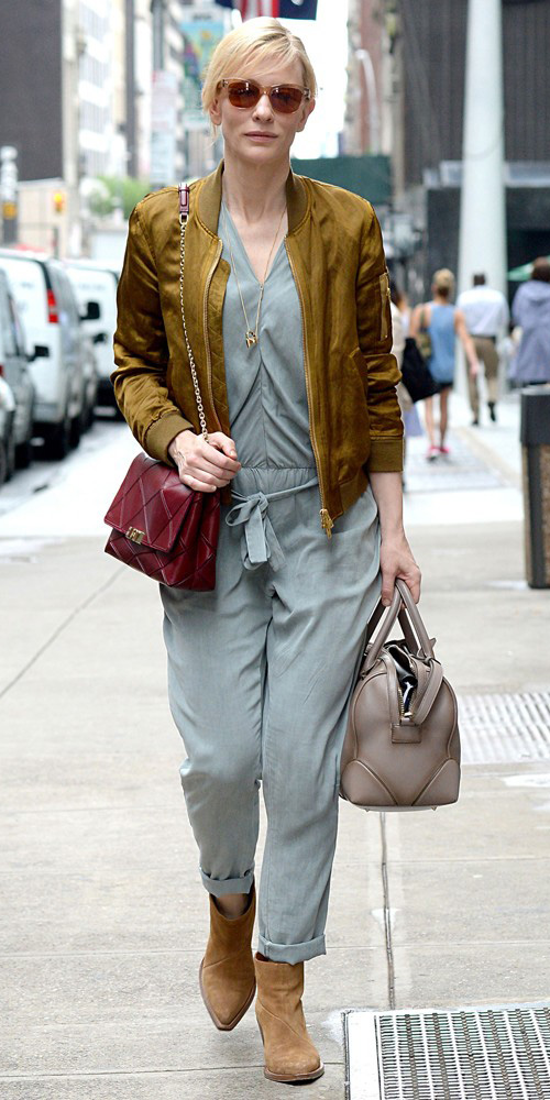 grayl-jumpsuit-camel-jacket-bomber-gray-bag-blonde-bun-sun-burgundy-bag-tan-shoe-booties-fall-winter-weekend.jpg