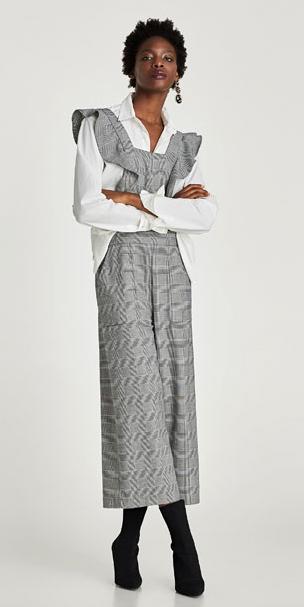 grayl-jumpsuit-white-top-blouse-black-shoe-booties-brun-earrings-fall-winter-work.jpg