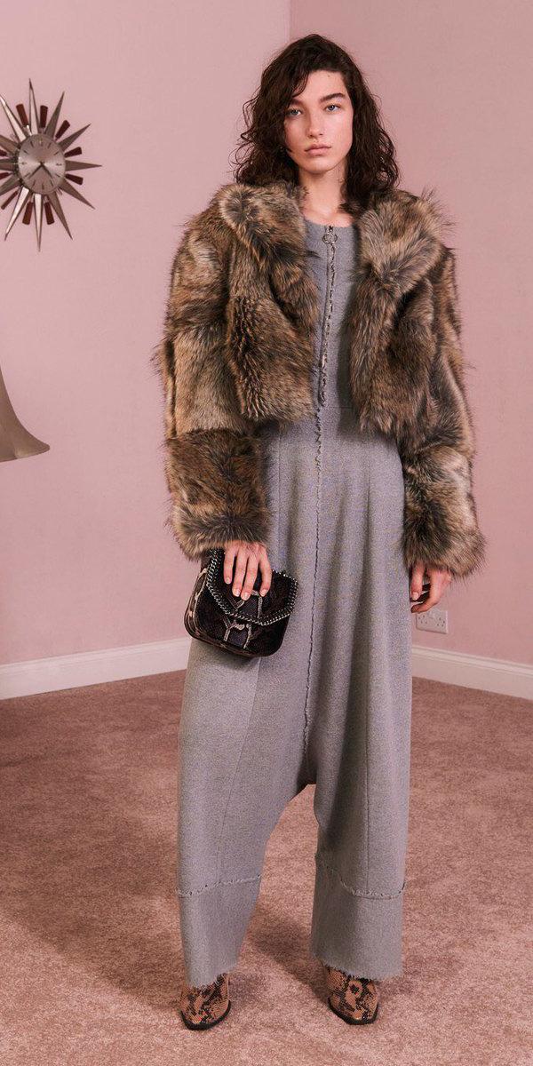 grayl-jumpsuit-brown-jacket-coat-fur-fuzz-fall-winter-brun-dinner.jpg
