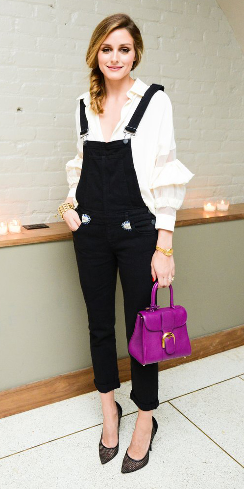 black-jumpsuit-overalls-white-top-ruffle-purple-bag-black-shoe-pumps-pony-oliviapalermo-howtowear-fall-winter-hairr-lunch.jpg