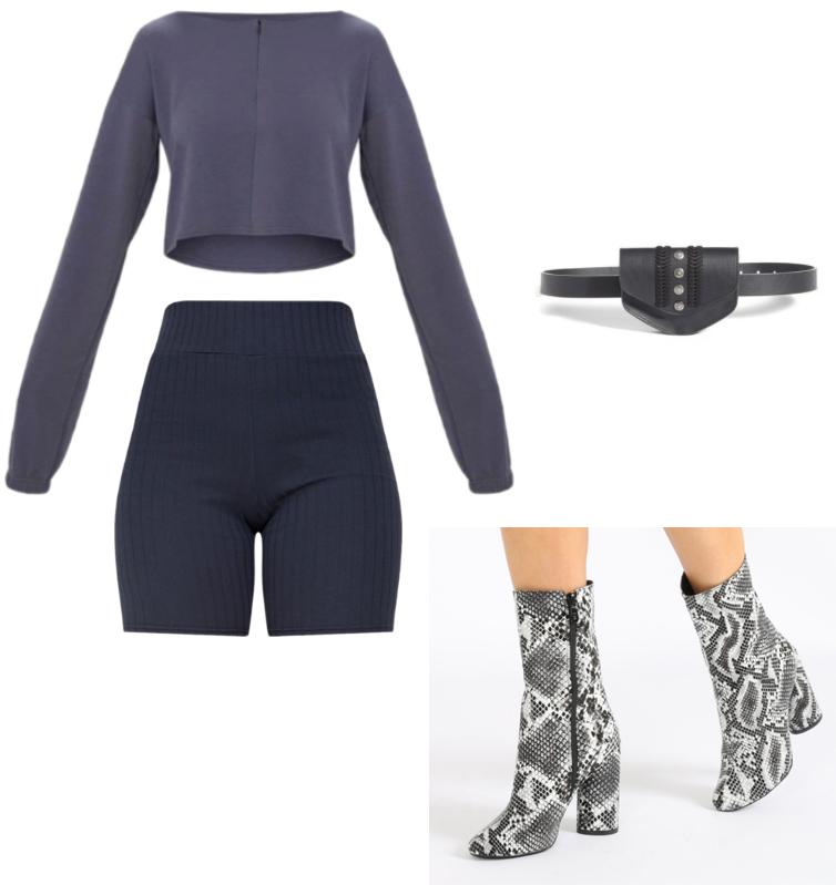 black-shorts-cycling-bike-grayd-crop-top-gray-shoe-booties-snakeskin-black-bag-fannypack-kimkardashian-tokyo-outfit-spring-summer-dinner.jpg