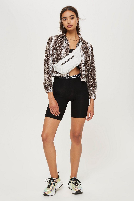 black-shorts-cycling-bike-white-bag-fannypack-brun-earrings-snakeskin-print-brown-jacket-jean-sneakers-spring-summer-weekend.jpg