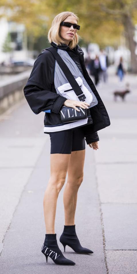 black-shorts-cycling-bike-black-bag-black-jacket-bomber-black-shoe-booties-sun-blonde-fall-winter-lunch.jpg