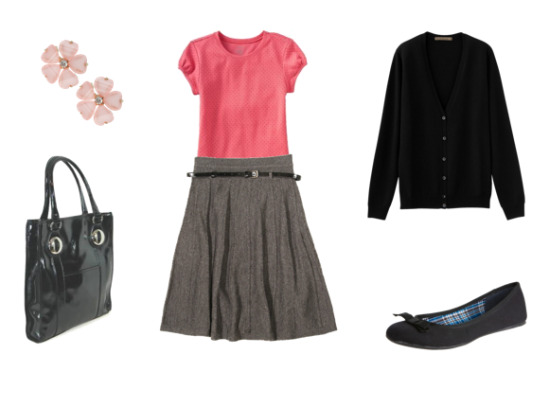 grayl-aline-skirt-r-pink-magenta-tee-black-cardigan-black-bag-howtowear-fashion-style-outfit-fall-winter-skinny-belt-black-shoe-flats-studs-work.jpg