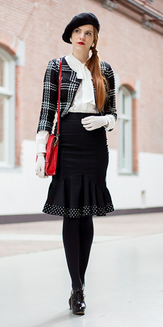 black-aline-skirt-white-collared-shirt-red-bag-black-jacket-howtowear-fashion-style-outfit-fall-winter-houndstooth-plaid-peplum-tights-beret-hat-gloves-vintage-black-shoe-booties-hairr-dinner.jpg