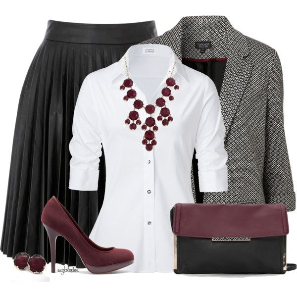 black-aline-skirt-white-collared-shirt-grayl-jacket-blazer-bib-necklace-burgundy-shoe-pumps-studs-black-bag-pleat-howtowear-fashion-style-fall-winter-outfit-work.jpg