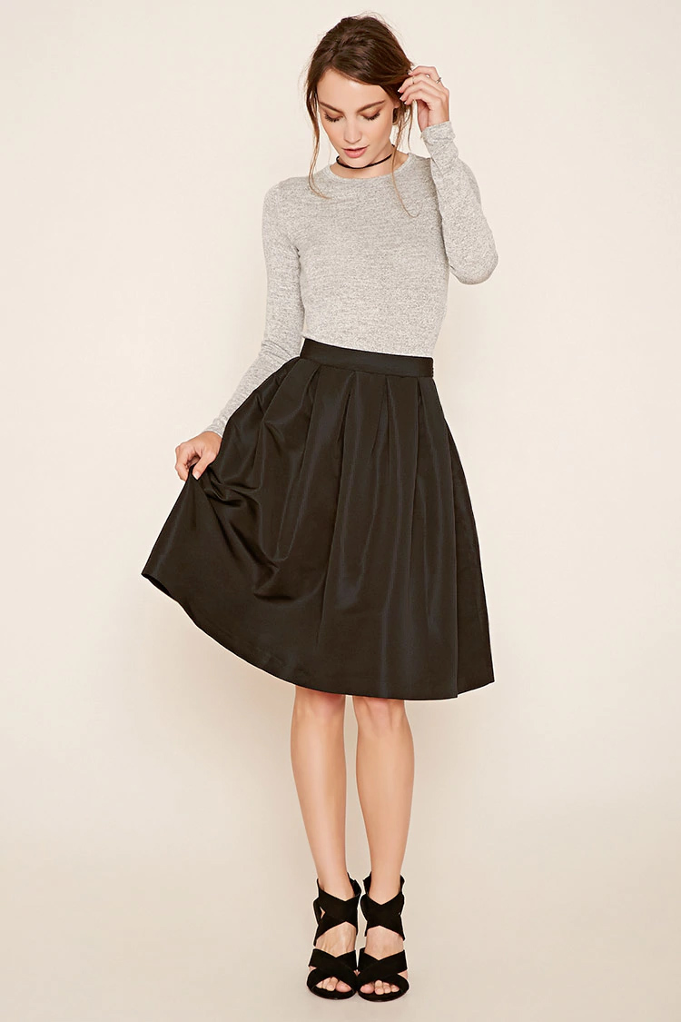 black-aline-skirt-grayl-tee-choker-bun-wear-style-fashion-fall-winter-black-shoe-sandalh-girly-trend-hairr-dinner.jpg
