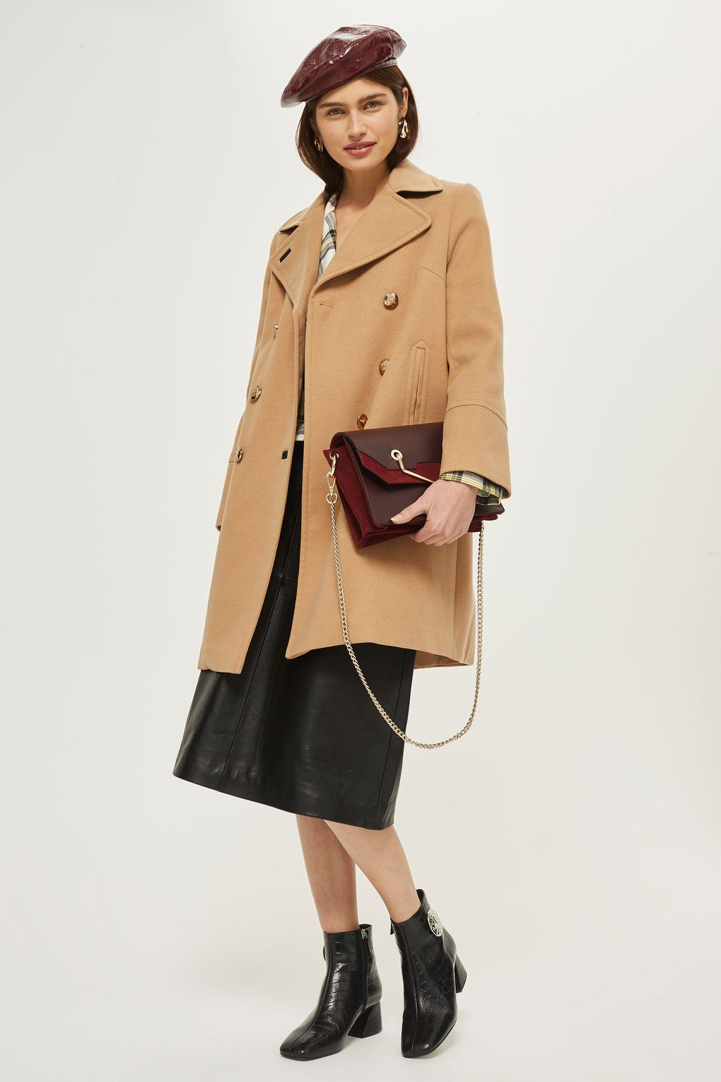 black-aline-skirt-beret-hat-burgundy-bag-black-shoe-booties-tan-jacket-coat-fall-winter-lunch.jpg
