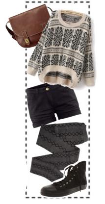 black-shorts-grayd-tights-white-sweater-brown-bag-black-shoe-sneakers-fall-winter-weekend.jpg