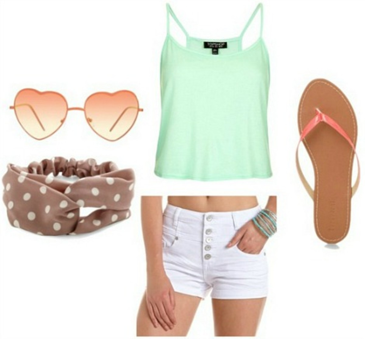 white-shorts-green-light-cami-orange-shoe-sandals-head-sun-denim-howtowear-fashion-style-spring-summer-outfit-weekend.jpg