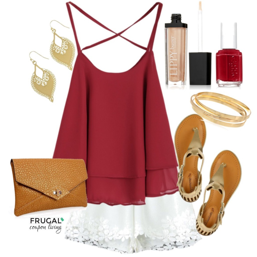 white-shorts-red-cami-earrings-tan-shoe-sandals-cognac-bag-clutch-nail-bracelet-howtowear-fashion-style-outfit-spring-summer-weekend.jpg
