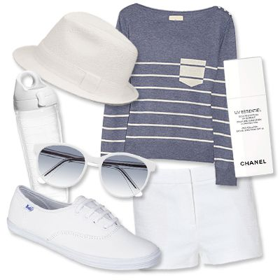 white-shorts-blue-med-tee-stripe-white-shoe-sneakers-sun-hat-howtowear-fashion-style-outfit-spring-summer-weekend.jpg