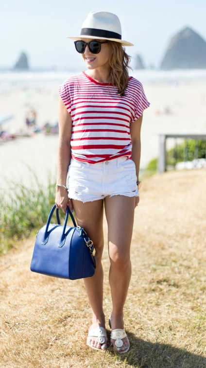 white-shorts-red-tee-stripe-hat-panama-sun-blue-bag-white-shoe-sandals-howtowear-fashion-style-outfit-spring-summer-hairr-weekend.jpg