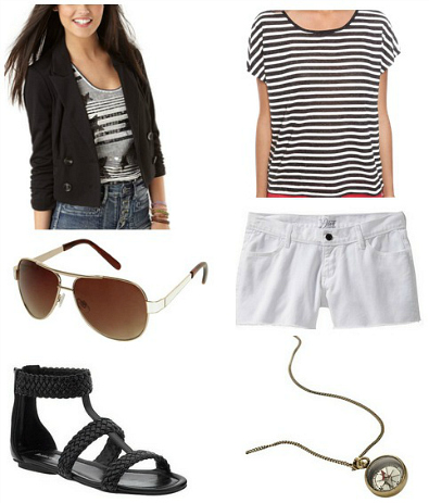white-shorts-black-tee-stripe-howtowear-fashion-style-outfit-spring-summer-necklace-pend-black-shoe-sandals-sun-black-jacket-crop-denim-weekend.jpg