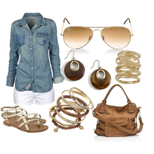 white-shorts-blue-med-collared-shirt-earrings-bracelet-cognac-bag-tan-shoe-sandals-sun-howtowear-fashion-style-outfit-spring-summer-weekend.jpg