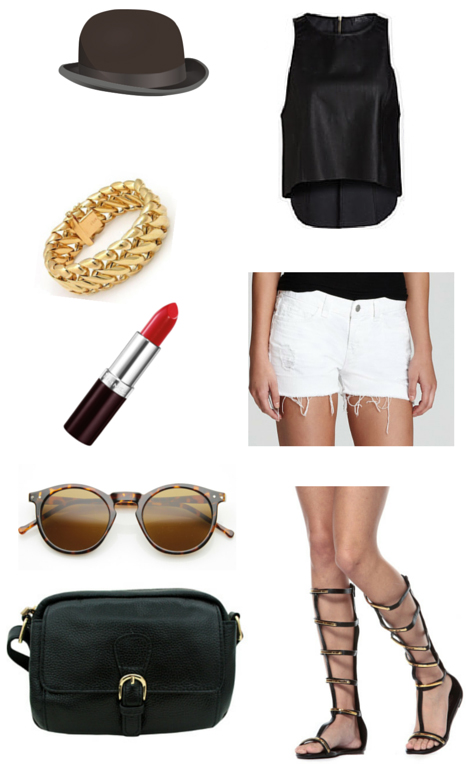 white-shorts-black-top-black-shoe-sandals-gladiator-black-bag-sun-bracelet-hat-denim-howtowear-fashion-style-outfit-spring-summer-weekend.jpg