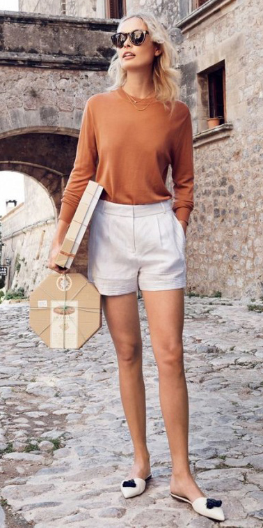 how-to-style-white-shorts-camel-sweater-blonde-sun-white-shoe-flats-spring-summer-fashion-weekend.jpg