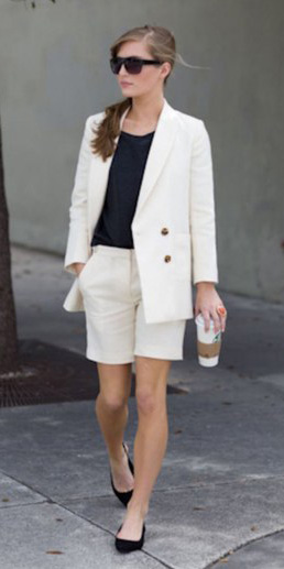 white-shorts-black-tee-white-jacket-blazer-sun-pony-black-shoe-flats-howtowear-fashion-style-outfit-spring-summer-bermuda-hairr-work.jpg