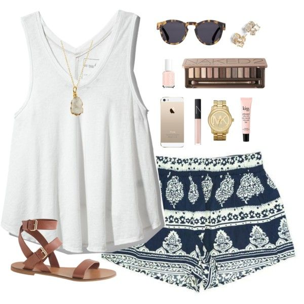 blue-navy-shorts-white-top-tank-print-watch-cognac-shoe-sandals-necklace-pend-sun-studs-nail-howtowear-fashion-style-outfit-spring-summer-weekend.jpg