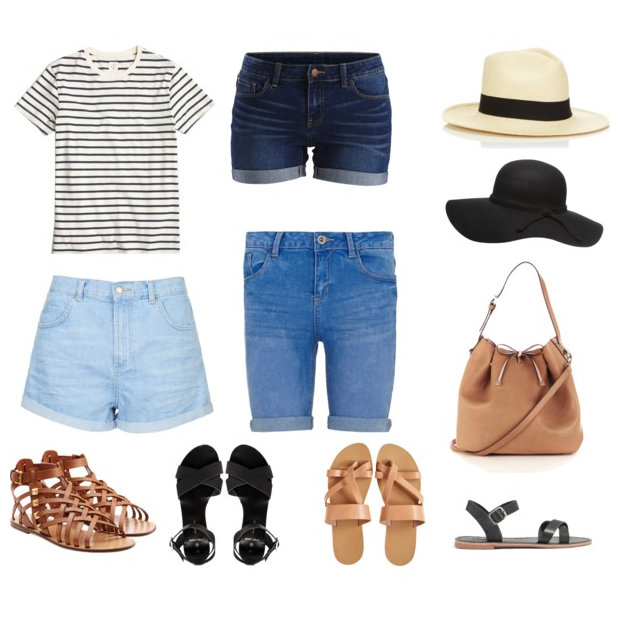 blue-navy-shorts-black-tee-stripe-howtowear-fashion-style-outfit-spring-summer-cognac-shoe-sandals-hat-panama-tan-bag-black-shoe-sandals-denim-weekend.jpg