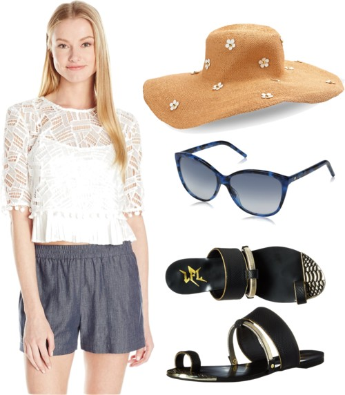 how-to-style-blue-navy-shorts-white-top-blouse-black-shoe-sandals-sun-hat-lace-spring-summer-fashion-weekend.jpg