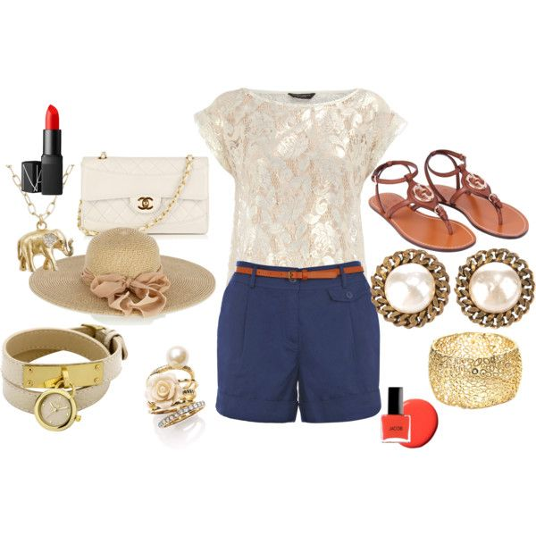 blue-navy-shorts-white-top-lace-skinny-belt-hat-white-bag-watch-necklace-pend-brown-shoe-sandals-studs-nail-tailor-howtowear-fashion-style-spring-summer-outfit-lunch.jpg