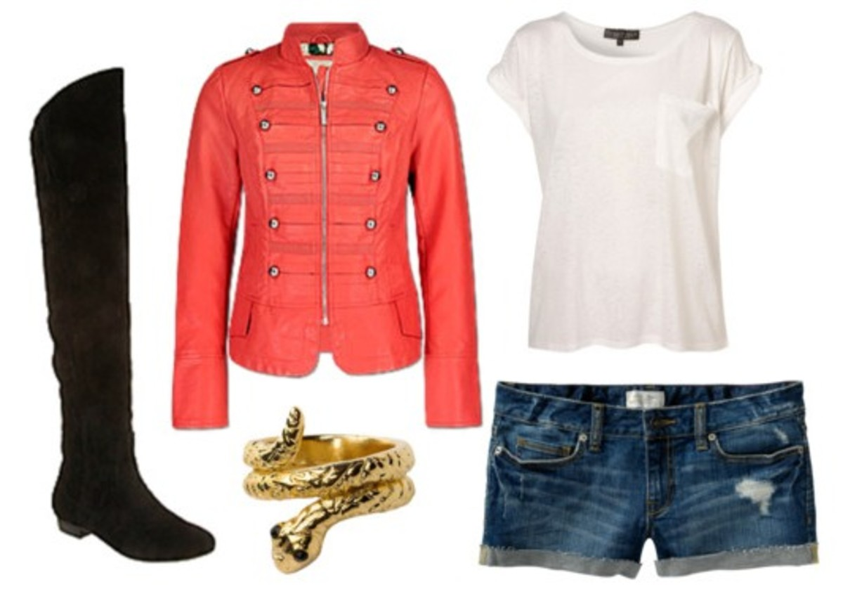 blue-navy-shorts-white-tee-red-jacket-military-denim-black-shoe-boots-bracelet-howtowear-fashion-style-outfit-spring-summer-weekend.jpg