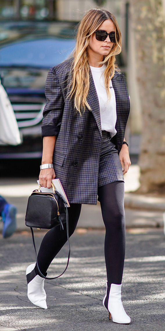 blue-navy-shorts-plaid-suit-white-tee-black-tights-black-bag-white-shoe-booties-blue-navy-jacket-blazer-boyfriend-fall-winter-blonde-work.jpg