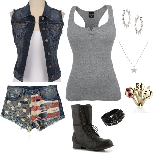 blue-med-shorts-grayl-top-tank-blue-navy-vest-jean-black-shoe-booties-bracelet-hoops-denim-cutoff-howtowear-fashion-style-outfit-spring-summer-weekend.jpg