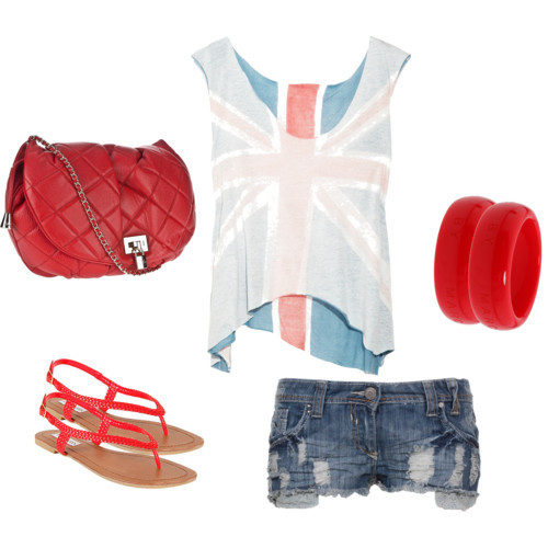 blue-med-shorts-white-tee-denim-cutoff-bracelet-red-shoe-sandals-red-bag-flag-4thofjuly-howtowear-fashion-style-outfit-spring-summer-weekend.jpg