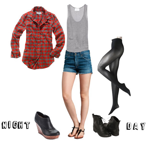 blue-med-shorts-grayl-top-tank-red-plaid-shirt-black-tights-black-shoe-booties-howtowear-fashion-style-outfit-fall-winter-wearwithshirtopen-denim-weekend-dinner.jpg