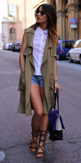 blue-med-shorts-denim-white-top-green-olive-vest-utility-brown-shoe-sandals-gladiator-blue-bag-hairr-spring-summer-weekend.jpg