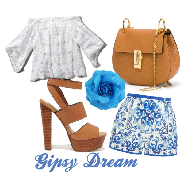 blue-med-shorts-print-white-top-blouse-lace-offshoulder-cognac-shoe-sandalh-cognac-bag-spring-summer-lunch.jpg