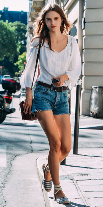 blue-med-shorts-denim-white-top-blouse-peasant-spring-summer-hairr-weekend.jpg