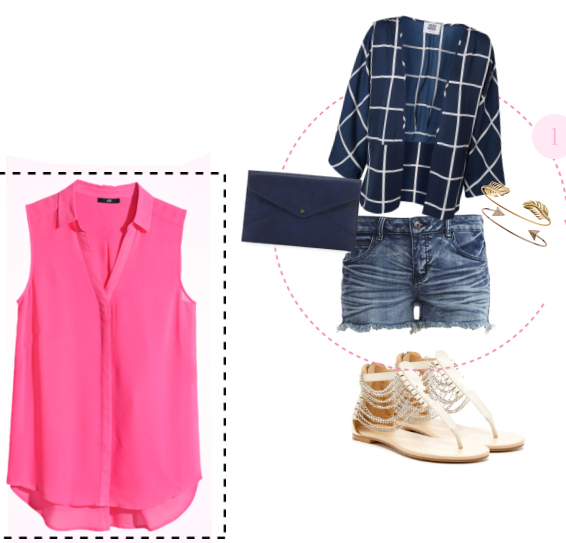 blue-med-shorts-r-pink-magenta-top-blue-navy-jacket-windowpane-blue-bag-bracelet-white-shoe-sandals-howtowear-fashion-style-outfit-spring-summer-weekend.jpg