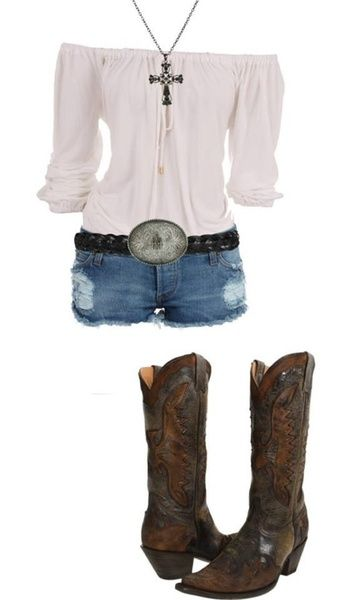 blue-med-shorts-white-top-offshoulder-belt-western-brown-shoe-boots-necklace-pend-howtowear-fashion-style-outfit-spring-summer-weekend.jpg