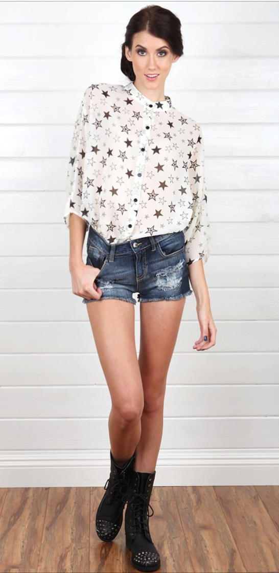 blue-med-shorts-white-top-blouse-howtowear-fashion-style-outfit-spring-summer-black-shoe-booties-bun-denim-brun-weekend.jpg