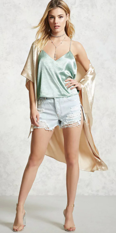 blue-light-shorts-denim-green-light-cami-silk-tan-cardiganl-kimono-clear-shoe-sandalh-choker-blonde-spring-summer-dinner.jpg