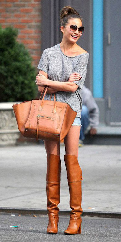 blue-light-shorts-grayl-tee-cognac-bag-sun-bun-cognac-shoe-boots-howtowear-fashion-style-outfit-spring-summer-brun-lunch.jpg