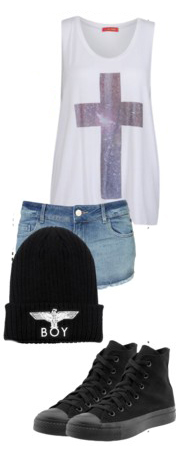 blue-light-shorts-denim-beanie-black-shoe-sneakers-white-graphic-tee-spring-summer-weekend.jpg