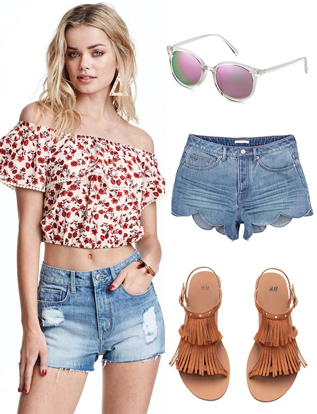 blue-light-shorts-red-top-crop-offshoulder-print-cognac-shoe-sandals-sun-denim-howtowear-fashion-style-outfit-spring-summer-blonde-weekend.jpg