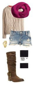 blue-light-shorts-denim-cutoff-white-sweater-pink-magenta-scarf-brown-shoe-boots-black-tights-fall-winter-weekend.jpg