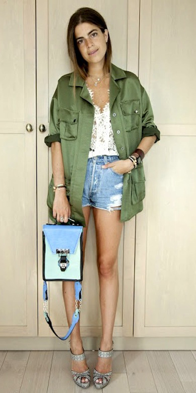 blue-light-shorts-white-top-blue-bag-gray-shoe-sandalw-hairr-green-olive-jacket-utility-spring-summer-lunch.jpg